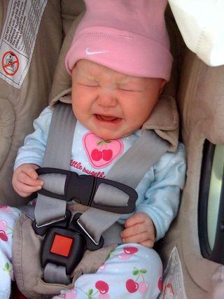 Cora crying
