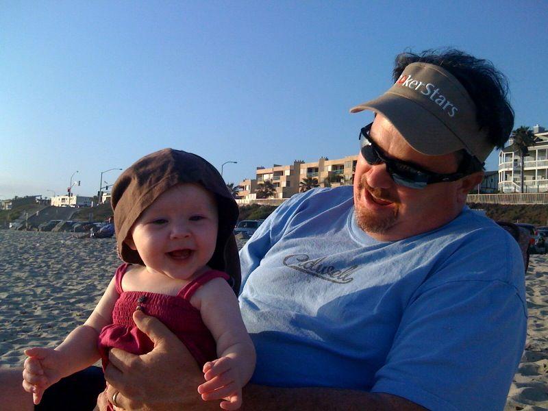 Cora daddy beach